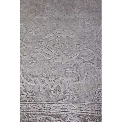 Iris Hand Knotted Silk Light Silver Area Rug