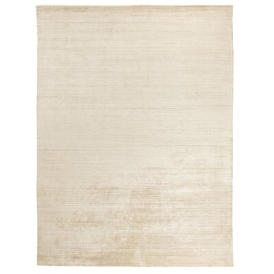 Sanctuary Hand-Woven Silk Beige Area Rug