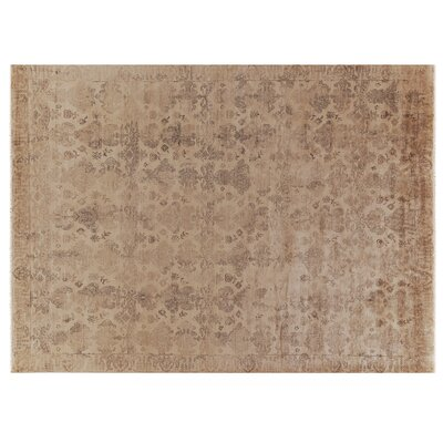Lisbon Hand-Knotted Ivory Area Rug Rug Size: Rectangle�6 x 9