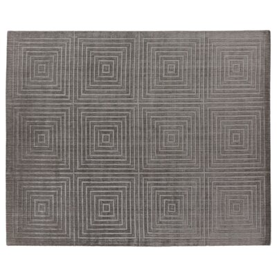 Robin Hand-Loomed Wool/Silk Dark Gray Area Rug Rug Size: Rectangle 6 x 9