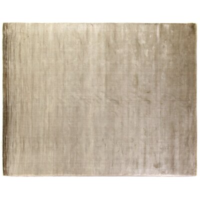 Plain Dove Hand-Woven Silk Silver Area Rug Rug Size: Rectangle 4 x 6
