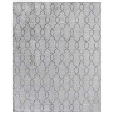 Samara Hand-Woven Silk Gray Area Rug Rug Size: Rectangle 10' x 14'