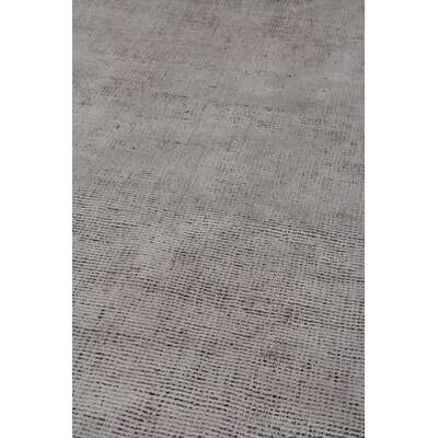 Duo Hand Woven Wool/Silk Gray Area Rug Rug Size: Rectangle 14 x 18