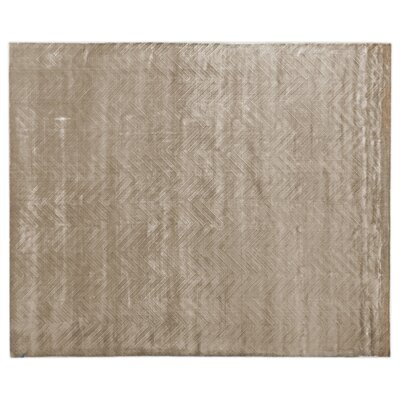 Smooch Carved Hand-Woven Silk Brown Area Rug Rug Size: Rectangle�14 x 18