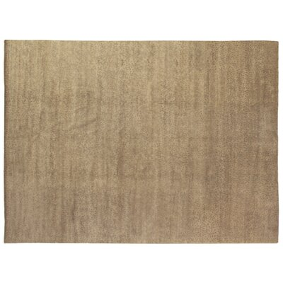 Metropolitan Hand Knotted Wool Ivory/Green Area Rug Rug Size: Rectangle 9 x 10