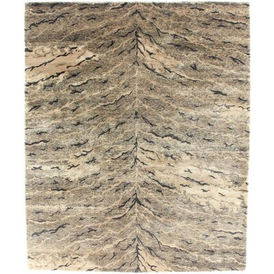 Metropolitan Hand Knotted Wool Brown Area Rug Rug Size: Rectangle 9 x 12