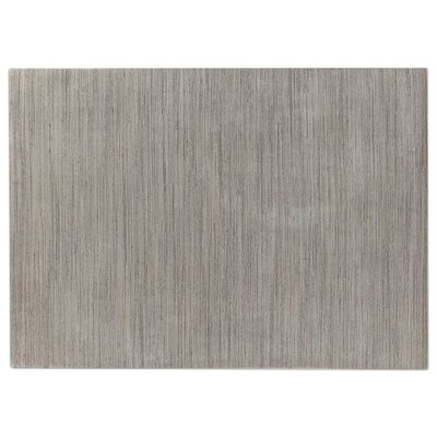 Palazzo Hand Woven Silk Dark Gray/Gray Area Rug Rug Size: Rectangle 8 x 11