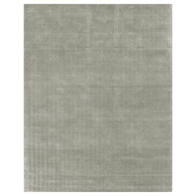 Pavo Hand-Woven Light Silver Area Rug Rug Size: Rectangle 8 x 10