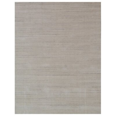Hand-Woven Light Gray Area Rug Rug Size: Rectangle 14 x 18