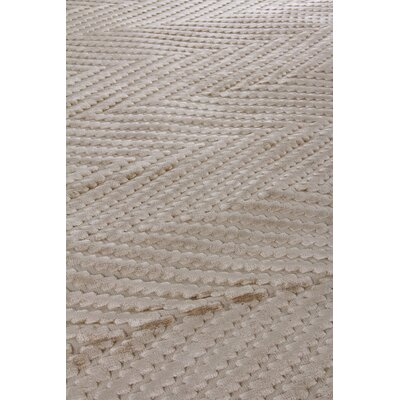Kingsley Hand-Woven Ivory Area Rug Rug Size: Rectangle 5 x 8