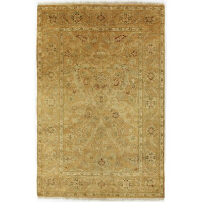 Anatolian Oushak Hand-Knotted Wool Gold Area Rug Rug Size: Rectangle 10 x 14