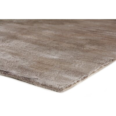 Hand-Knotted Gray/Brown Area Rug Rug Size: Rectangle 6 x 9