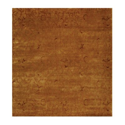 Metropolitan Hand Knotted Wool Beige/Rose Area Rug Rug Size: Rectangle 9 x 12