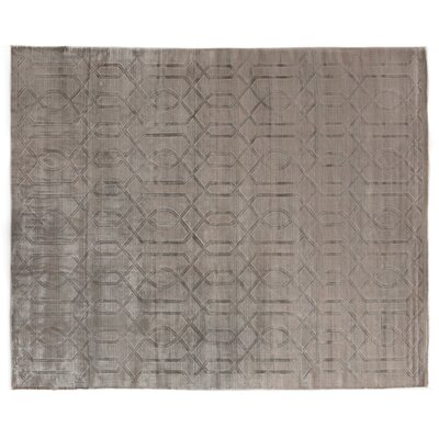 Smooch Carved Hand-Woven Brown Area Rug Rug Size: Rectangle 5 x 8