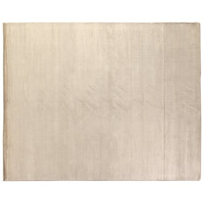Plain Dove Hand-Woven Silk Off-White Area Rug Rug Size: Rectangle 15 x 20