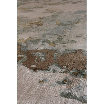 Koda Hand-Woven Beige/Blue Area Rug Rug Size: Rectangle 8 x 10