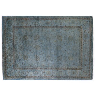 Overdyed Hand-Woven Wool Blue/Brown Area Rug