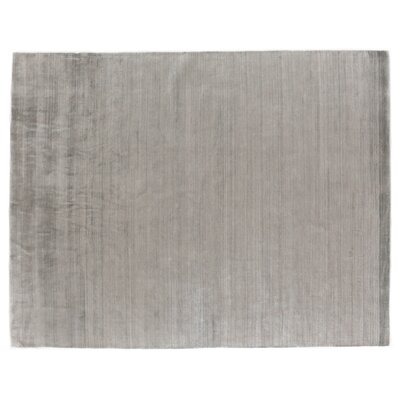 Sanctuary Hand Woven Silk Gray Area Rug Rug Size: Rectangle 8 x 10