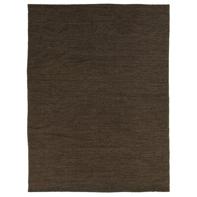 Wool Dark Brown Area Rug Rug Size: Rectangle 10 x 14