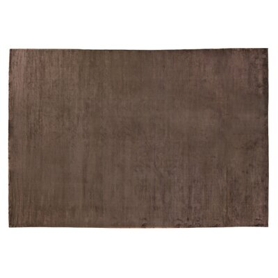 Dove Courduroy Hand-Woven Silk Brown Area Rug Rug Size: Rectangle 6 x 9