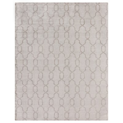 Samara Hand-Woven Silk Gray Area Rug Rug Size: Rectangle 8 x 10