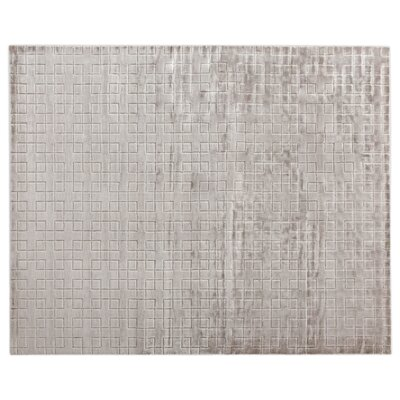 Kingsley Hand-Loomed Silver Area Rug Rug Size: Rectangle 12 x 15