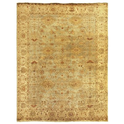 Oushak Hand-Knotted Wool Beige Area Rug Rug Size: Rectangle 14 x 18