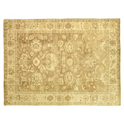 Oushak Hand-Knotted Wool Yellow/Ivory Area Rug