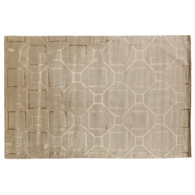 Super Tibetan Hand-Knotted Ivory/Gray Area Rug Rug Size: Rectangle 10 x 14
