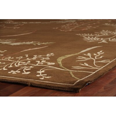Super Tibetan Hand Knotted Wool/Silk Gold Area Rug