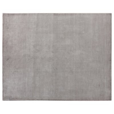 Duo Hand Woven Wool/Silk Gray Area Rug Rug Size: Rectangle 8 x 10