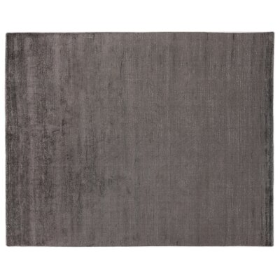 Duo Hand Woven Wool/Silk Brown Area Rug Rug Size: Rectangle 14 x 18