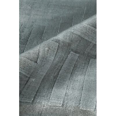 Smooch Carved Hand-Woven Silk Gray Area Rug Rug Size: Rectangle 6 x 9