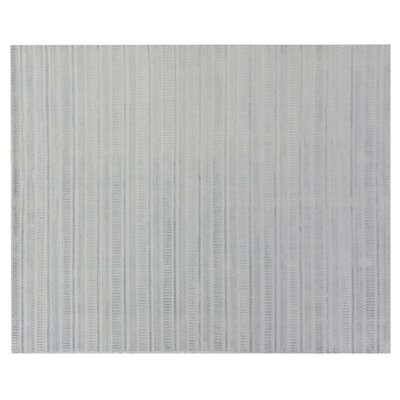 Addison Hand-Woven Ice Blue Area Rug Rug Size: Rectangle 12 x 15