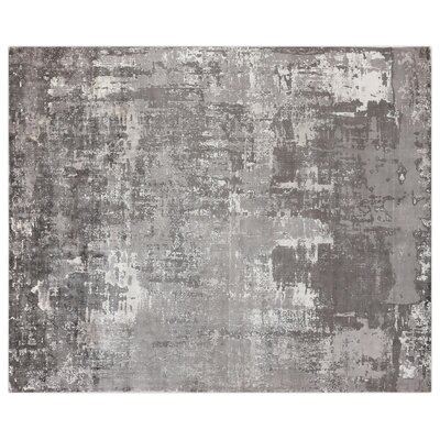 Koda Hand-Woven Silk Ocean Area Rug Rug Size: Rectangle 8 x 10