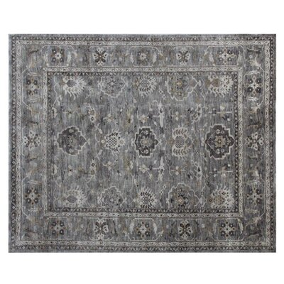 Oushak Hand-Knotted Wool Gray Area Rug Rug Size: Rectangle 10 x 14