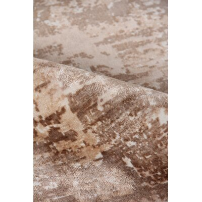 Koda Hand Loomed Silk Beige/Brown Area Rug Rug Size: Rectangle 8 x 10