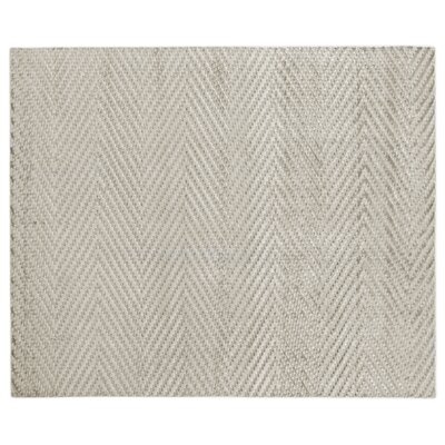 Kingsley Hand-Woven Silver Area Rug Rug Size: Rectangle 6 x 9