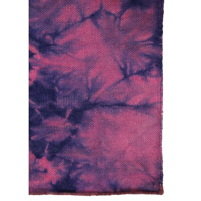 Hand-Woven Cotton Magenta Area Rug
