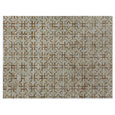 Natural Hide Beige/Ivory Area Rug Rug Size: Rectangle 136 x 176