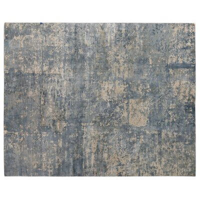 Koda Hand-Woven Silk River Rock Area Rug Rug Size: Rectangle 10 x 14