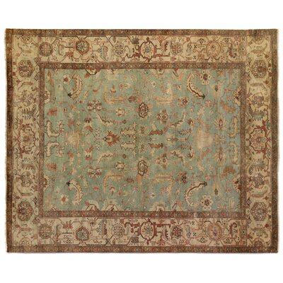Serapi Hand-Knotted Wool Light Blue/Ivory Area Rug Rug Size: Rectangle 12 x 15