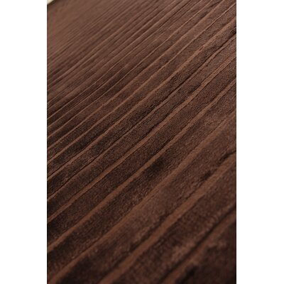 Wave, Art Silk, Chocolate (14x18) Area Rug