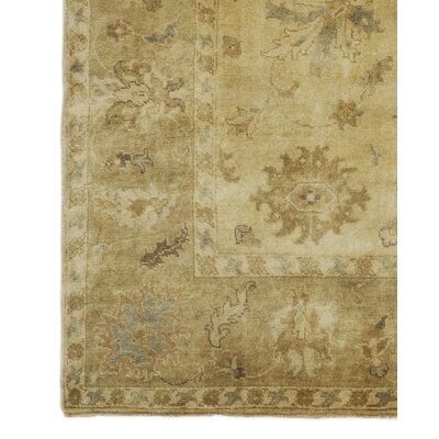 Oushak Hand-Knotted Wool Ivory/Beige Area Rug Rug Size: Rectangle 12 x 15