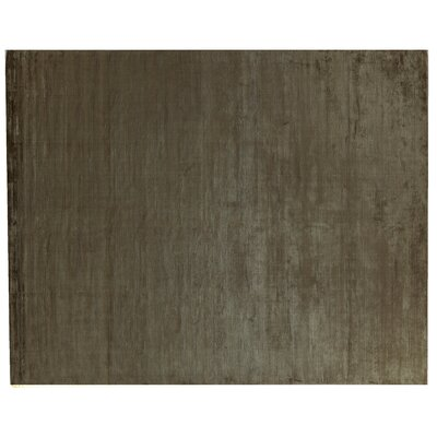 Dove Courduroy Hand-Woven Silk Brown Area Rug Rug Size: Rectangle 14 x 18