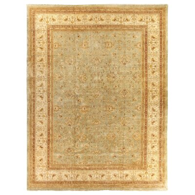 Ziegler Hand Knotted Wool Blue/Beige Area Rug Rug Size: Rectangle 15 x 20