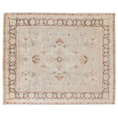Oushak Hand-Knotted Wool Beige/Brown Area Rug Rug Size: Rectangle 14 x 18