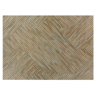 Natural Hide Hand Woven Cowhide Brown Area Rug Rug Size: Rectangle 136 x 176