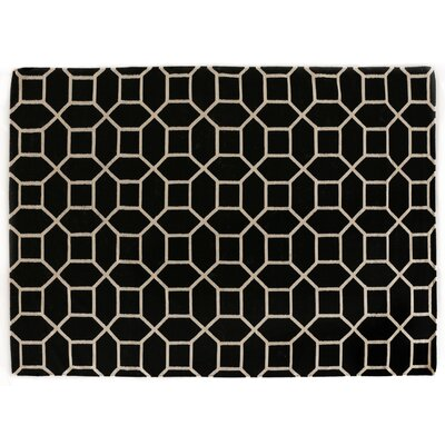 Hand-Woven Wool Black/White Area Rug