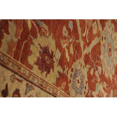 Serapi Hand-Knotted Wool Red/Beige Area Rug Rug Size: Rectangle 14' x 18'